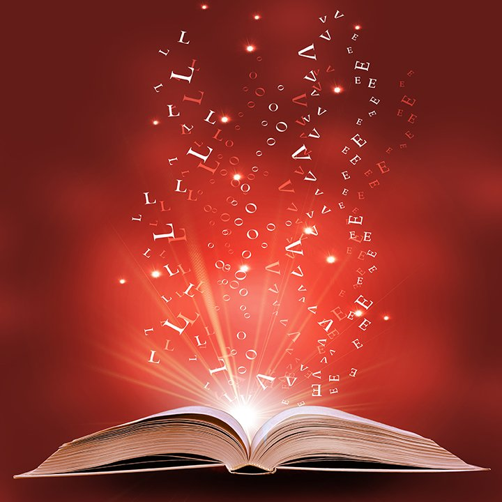 books magic reading spilling words inspired writer editing knowledge letters et dreams dream que